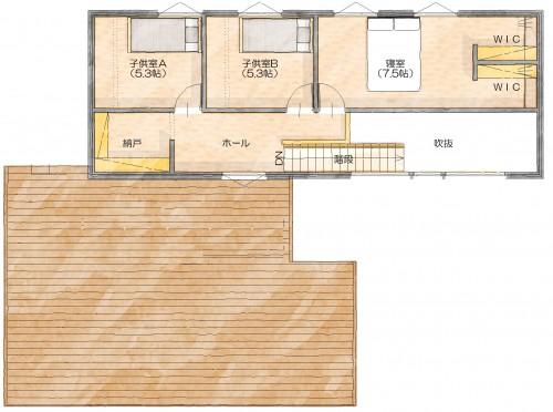 N邸 2階平面図