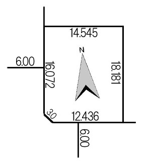 藤野3条11丁目256-12地積図