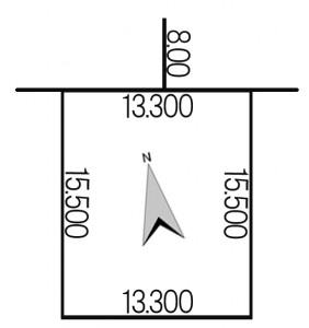 南区真駒内256-77地積図