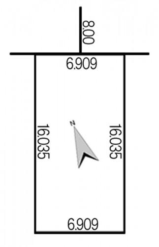 曙3条3丁目532-47地積図