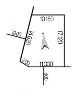 旭川市台場東2丁目394-16地積