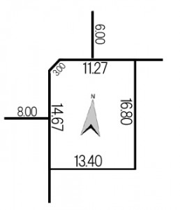 中沼5条1丁目地積図