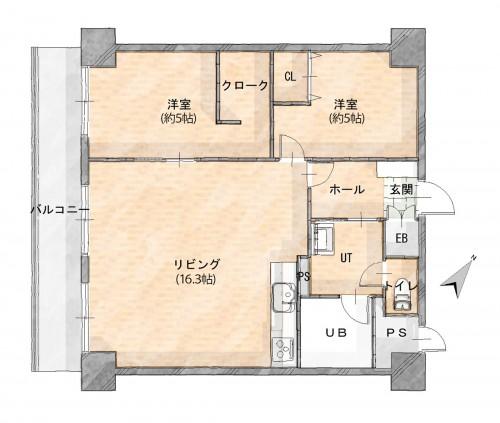 R1.12 ライオンズマンション伏見第参 平面図