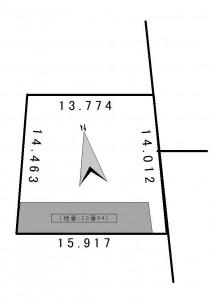 金山1条2丁目地積図