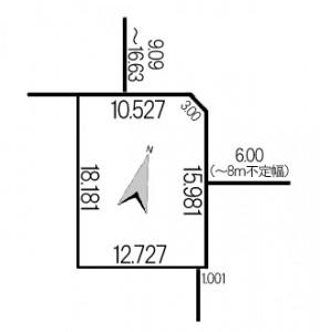 富丘6条4丁目地積図