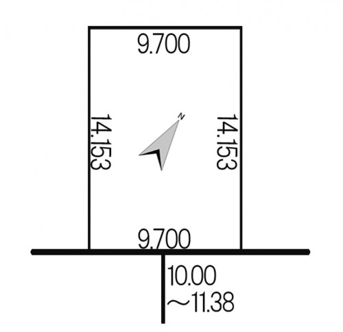 東区東苗穂11条3丁目 地積図