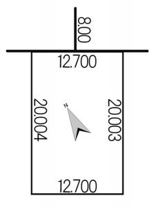 西野10条7丁目885-26地積図