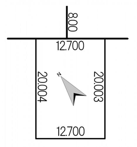 西野10条7丁目地積図