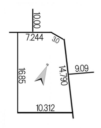 北丘珠3条1丁目664-335地積図