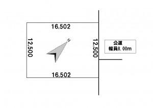 西岡1条10丁目333番175地積図