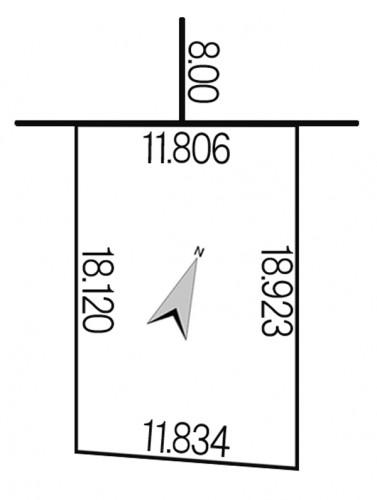 西野11条8丁目923-72地積図