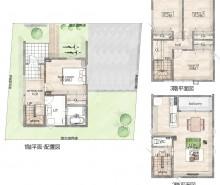 北郷1~3階平面図