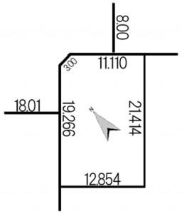 太平3条5丁目97-1地積図