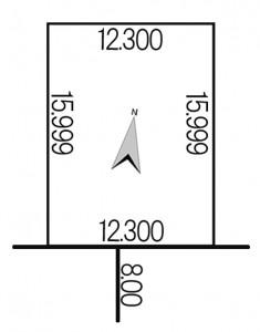 平和3条9丁目5-2地積図